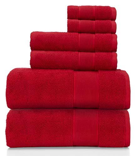 Ralph Lauren Sanders Handtuch-Set, 6-teilig, Kirschrot, 2 Badetücher, 2 Handtücher und 2 Waschlappen