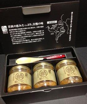 福井県特産品 若狭の麹と高級魚醤 鯖こうじ 3個入り(ギフト箱)