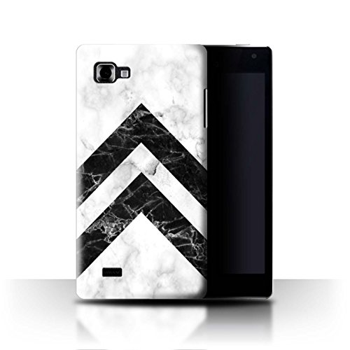 Stuff4® custodia/cover/Skin/lgfl CC/Marble Pattern geometrici Collection Monochrome Chevrons LG Optimus 4X HD P880