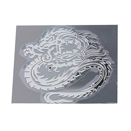 DYSCN Metal Car Sticker Adhesive Dragon Badge Decal Sticker For Car Auto Window (Silver)