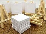 Wandervogel 12 mini caballete con bastidor para invitados, decoración de mesa, 8 x 13 cm de alto, lienzo vacío para pintar, acuarela, decoración de mesa