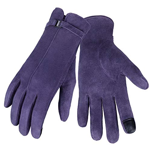 OZERO Touchscreen Damen Winterhandschuhe, Winter Lederhandschuhe Reithandschuhe Fahrradhandschuhe