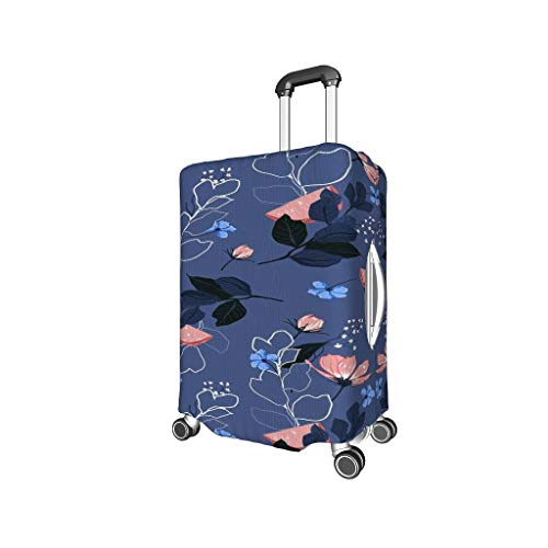 Luggage Cover Plant Flowers Washable Suitcase Protector No Dirty Fit Easily Four Sizes to Choose Anti-Scratch Suitcase Cover Fits 18-32inch Perfect Gift for Traveler Black XL (29-32 inch)