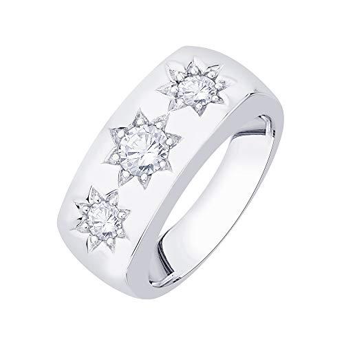 KATARINA Anillo de moda de diamantes engastados en oro de 14 quilates (3/4 cttw, J-K, SI2-I1)
