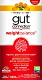 Country Life Gut Connection - 120 ct - Weight Balance - Help Improve Microbiome Health - Encourages Smaller Waist Size - May Reduce Body Fat & Increase Body Mass - EpiCor