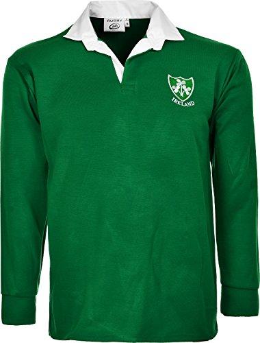 Irland Irish Retro Rugby T-Shirts Gr. S bis 5 XL, IRLAND LANGÄRMELIGE