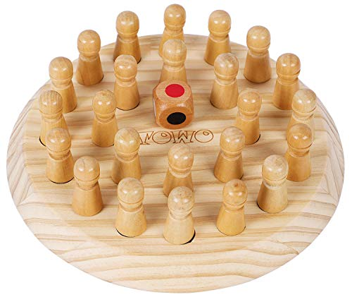 TOWO Wooden Memory Games for Children - Family Board Games for Kids and Adults -Wooden Mind Games for 3 years old- Wooden Educational Toys