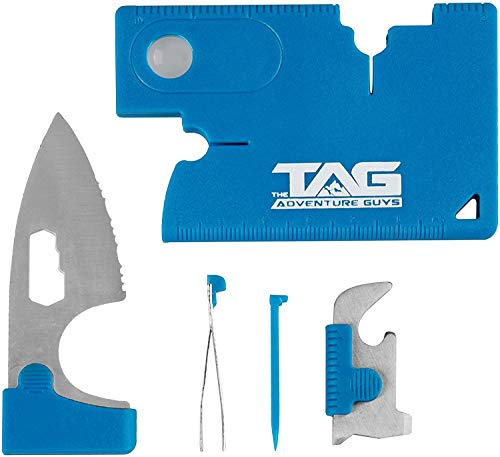 The Adventure Guys Credit Card Multitool - 10 in 1 Wallet Multitool Card - Best Wallet Tool Card For Men - Swiss Army Card Knife Set - Credit Card Tool With Wallet Knife