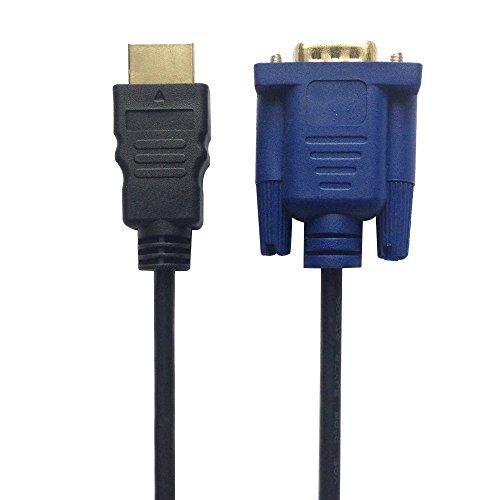 HDMI-auf-VGA-Kabel, 1,8 m, HDMI-Stecker auf VGA-Stecker, D-SUB 15-polig, M/M, Adapterkabel, HDMI-zu-VGA-Übertragungskabel (keine Signalumwandlungsfunktion)