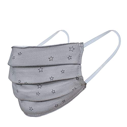ZOFINO Mundschutz Maske, Kälteschutz Gesichtsmaske, Staubdichte Mäske, Anti-Beschlag Anti-Staub Maske für Radfahren, waschbar Maske, hergestellt in der EU, 4er Pack (Grau)