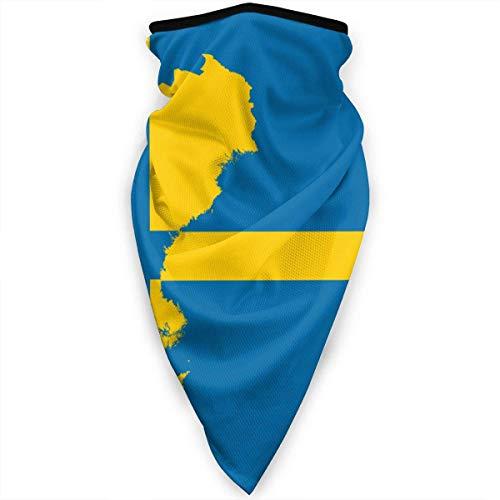 Zweden Zweedse Vlag Kaart Gezicht Masker Nek Gaiters Bandana Sjaal Balaclava Multifunctionele Hoofddeksels