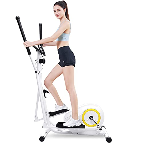 Doufit Elliptical Machine for Home Use, Eliptical Exercise Machine for Indoor Fitness Gym Workout, Adjustable Magnetic Elliptical Cross Trainer with LCD Monitor and Pulse Sensors (Basic)