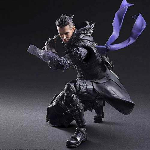 Xqwo Final Fantasy XV - Nyx Ulric Atcion Figura Figura Colección de PA Kai - equipados con Armas y reemplazables Manos 11