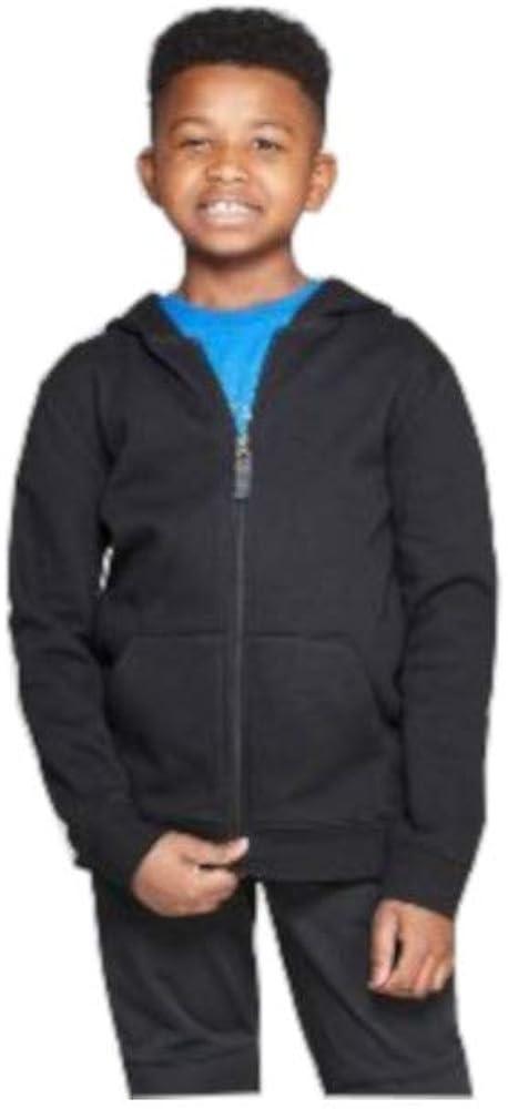 Cat & Jack Boys Size Small (6/6X) Long Sleeve Full Zip Hoodie, Ebony