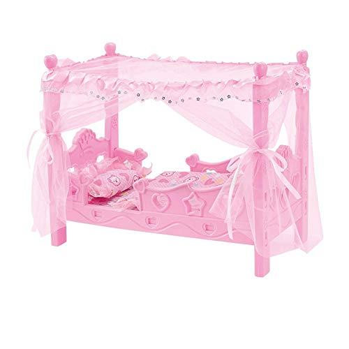 Hearthrousy Kinderwagen Bett Spielzeug Kinderspielhaus Mädchen Spielhaus Spielzeug Bett Prinzessin Puppe Spielzeug Shaker Hängematte Simulation Kinderbett Mini Puppenhaus Zubehör