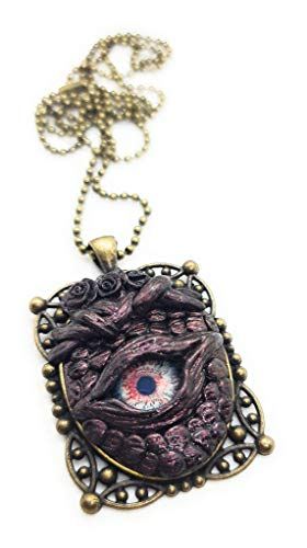 Collana occhio di drago colore rosso e bronzo