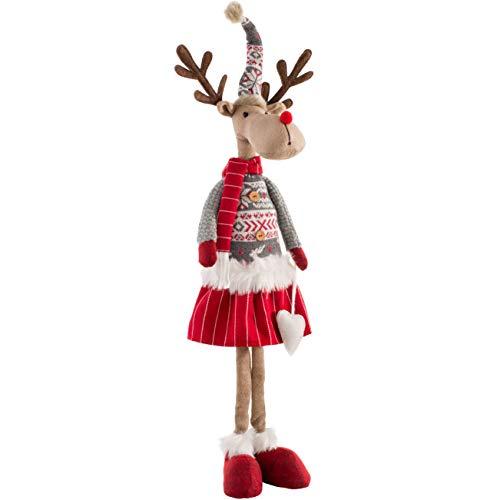 WeRChristmas Figura de Reno de Navidad de pie, Multicolor, 59 cm