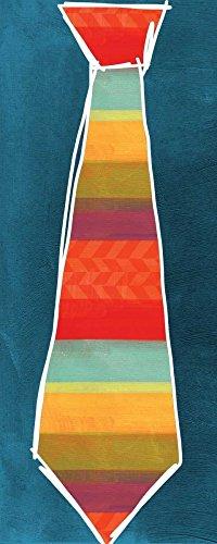 Feeling at Home Kunstdruck-auf-Papier-cm_70_X_28-Woods-Linda-Ferien-Bild-Poster-Gemetric-Krawatten-Vati-Vatertags-Windsor-Knot
