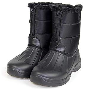 VAXPOT(バックスポット) スノーブーツ メンズ レディース 【軽量EVA素材】 VA-8256 BLK 26.5-27.0cm