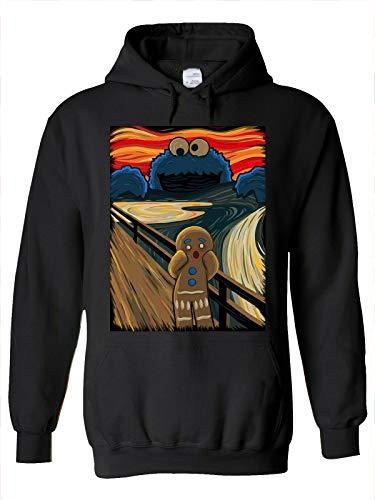YOUE Gingerbread Cookie Monster Scream Men Women Unisex Top Hoodie Sweatshirt-Black,3XL