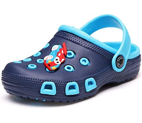 Vorgelen Zuecos Unisex Niños Verano Sandalias de Playa Respirable Antideslizante Piscina Jardín Zapatos Azul Navy 23 EU=Etiqueta 24