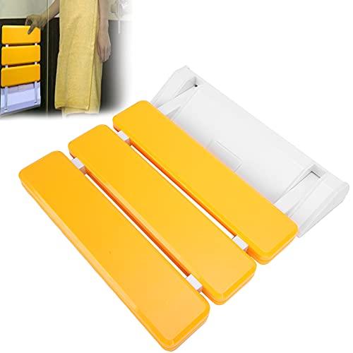 needlid Taburete montado en la Pared, Taburete de baño montado en la Pared Ahorra Espacio y es Conveniente para el baño de Entrada para la mayoría de Las Personas(Yellow)