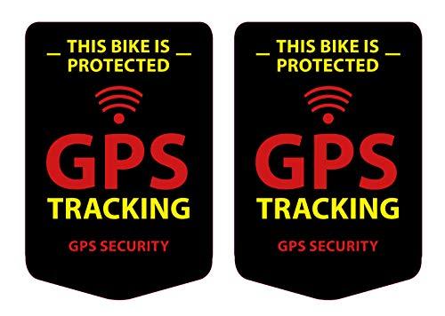 GPS Tracking 2 Stück Aufkleber für das Fahrrad, Bike Sticker Schwarz - Wetterfest, UV-Beständig