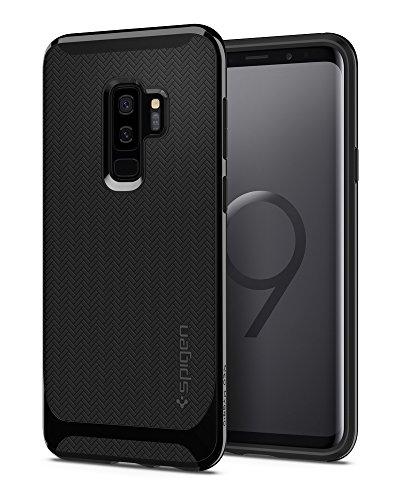 Spigen 593CS22942 Neo Hybrid für Samsung Galaxy S9 Plus Hülle, Zweiteilige Modische Muster Silikon & PC Rahmen Schutzhülle Hülle Shiny Black