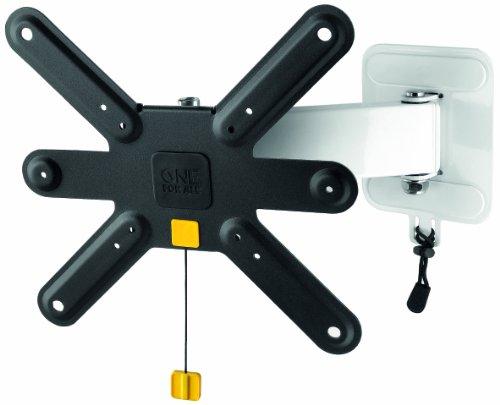 TV-Wandhalterung von One For All Drehen (90°) und Neigen (15°)- Wandhalterung - TV-Bildschirmgröße 13-32 Zoll – Max Gewicht 20kg - Für alle TV-Gerätetypen - Schwarz Weiß – SV3240