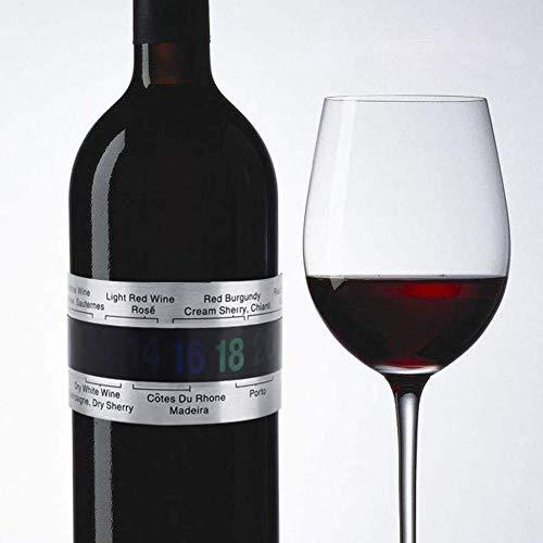 Weinthermometer - Edelstahl Wein LCD Thermometer Flasche Bier Rotweine Armband Temperatursensor