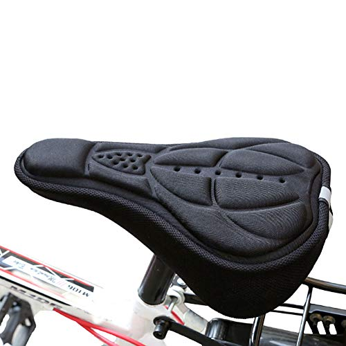Bike Bicycle 3D Gel Silicone Saddle Cover Seat Pad Bicycle Padded Soft Cushion Comfort