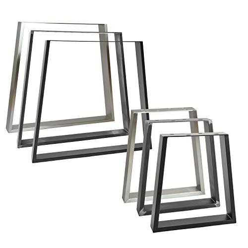2x Natural Goods Berlin Tischkufen TRAPEZ Design Möbelkufen V-Form Metall Tischbeine scandic | Loft Tischgestell aus Stahl | Tischkuven, Hairpin Legs (B60/80 x H72cm (Esstisch/Schreibtisch), Schwarz)