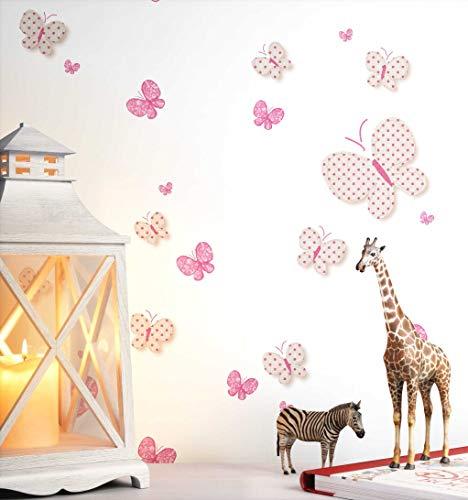 NEWROOM Kindertapete weiß Schmetterlinge Kinder Vliestapete Vlies Kindertapete Kinderzimmer Babytapete Babyzimmer Tiere