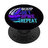El juego de voleibol femenino de bump set Repetición de PopSockets Agarre y Soporte para Teléfonos y Tabletas