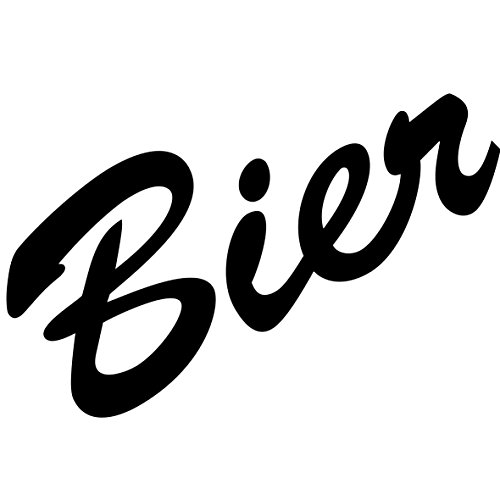 Schriftzug Bier 15cm Aufkleber Tattoo Wandtattoo Fenster Möbel Theke Bar Deko Folie (schwarz)
