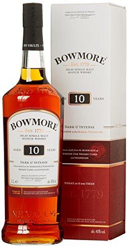 Bowmore 10 Years Old Dark & Intense Whisky mit Geschenkverpackung (1 x 1 l)