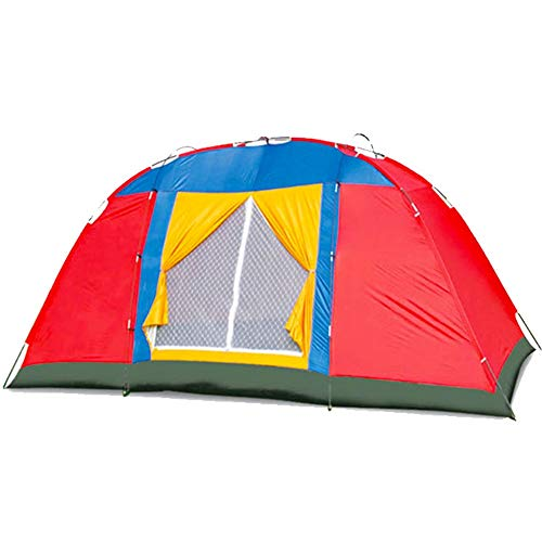 NBNBN Camping Tents for Family Outdoor Hiking Hiking Camping Tent Backpack Ventilation and View with Carry Bag and Quick Set-up (Color : Red, Size : One Size)
