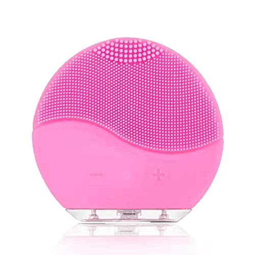 Facial Cleansing Brush,Rabiota Waterproof & Silicon Facial Cleaner,Electric Masager Cleansing System for Deep Cleansing Care,Face Massage Brush and USB Charging Cables (Pink)