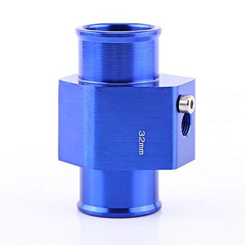 Yctze Adaptador universal de manguera de coche adaptador de sensor de temperatura de manguera de tubo de aleación de aluminio para temperatura del agua azul(32mm)