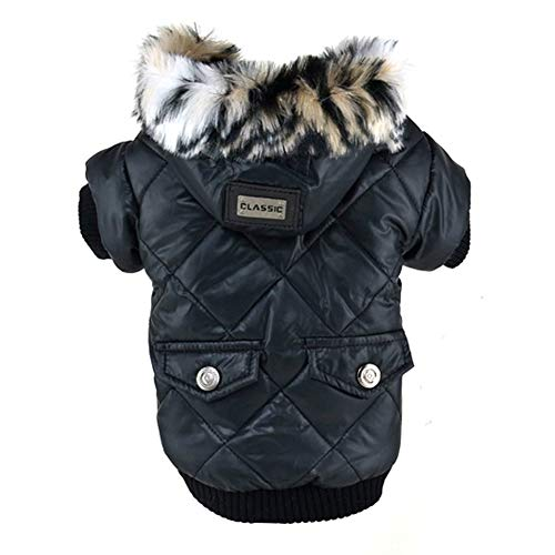 RUIBUY Hund Kalten Winter Coat Kleidung Bekleidung Jacken Hoodie Kleine Hunde, Winddicht, sowohl Mädchen & Jungen, Druckknöpfen Schließung, elastischer Bund