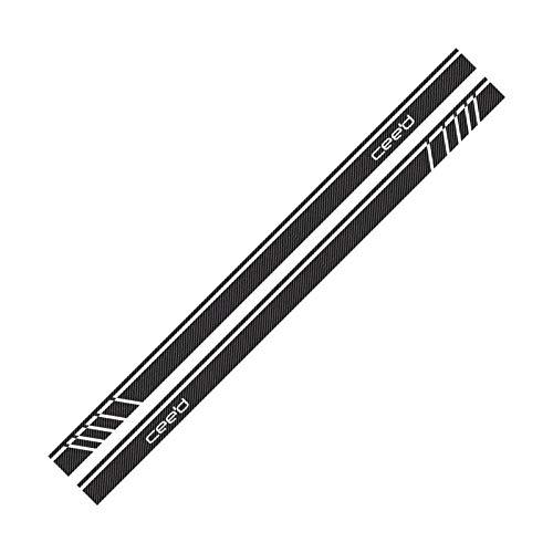 Stripe Stripe Pegatina de coche Auto Vinilo Celdel Racing Sports Graphics Styling Decal Decal Suning Coche Accesorio (Color Name : Carbon Fiber)