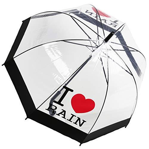 Dr. Neuser Damen Automatik Stockschirm Regenschirm Glockenschirm Schirm Durchsichtig Transparent 608 TPR, Farbe:Modell 3