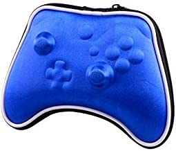 OSTENT Air Foam Hard Pouch Case Bag Sleeve Compatible for Microsoft Xbox One Wireless Controller - Color Blue