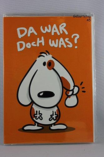 Nici - 55226 - Ginger & Fuzzy, Klappkarte, Geburtstag, Da war doch was? Ach so, ab heute gibt´s ne alte Socke mehr auf dem Planeten. Happy Birthday