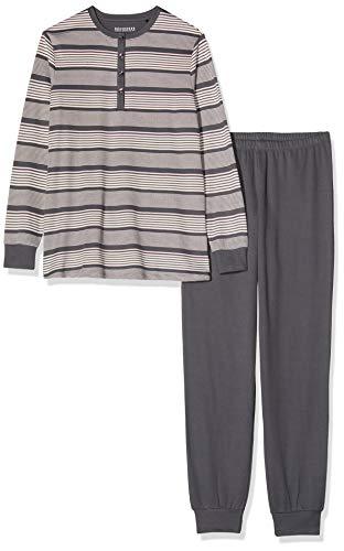Schiesser Damen Anzug lang 167641' Zweiteiliger Schlafanzug, Grau (Graphit 207), 50
