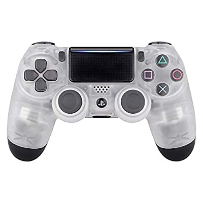 eXtremeRate Clear Series Front Housing Shell Faceplate Cover for PS4 Slim PS4 Pro Controller (CUH-ZCT2 JDM-040 JDM-050 JDM-055)- Controlle NOT Included