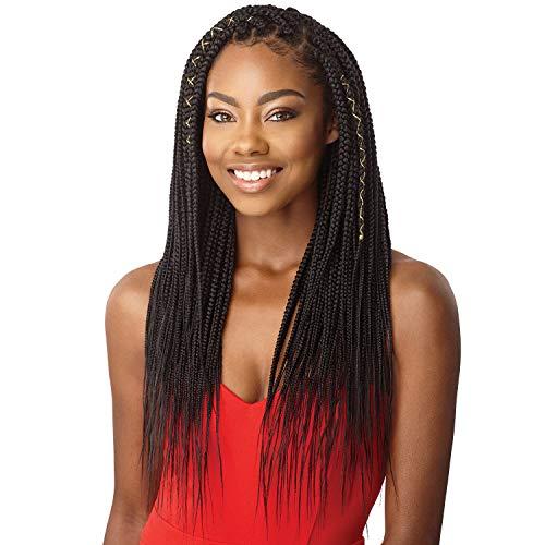 "MULTI PACK DEALS! Outre Synthetic Hair Crochet Braids X-Pression Braid Natural Tips Medium Box Braid 26"" (3-PACK, 1B)"