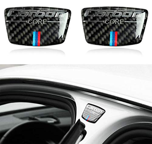 Blizim 2 Stücke Autoaufkleber Kohlefaser B-Spalte Außendekoration für BMW