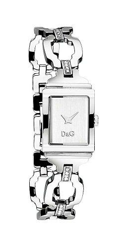 D&G Dolce & Gabbana DW0333 - Orologio da polso da donna, cinturino in acciaio inox colore argento