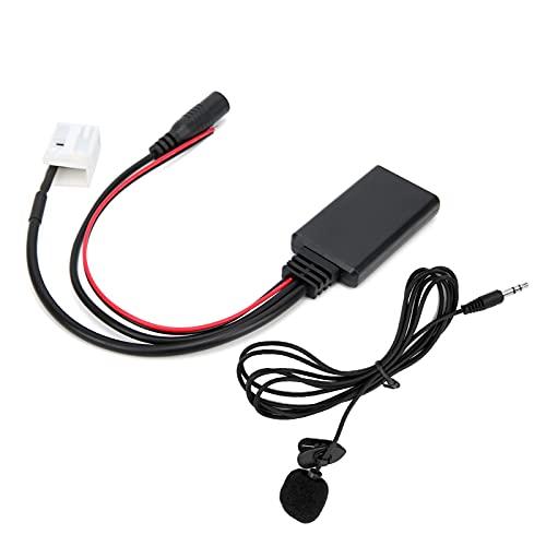Cable de audio para automóvil ABS DC 12V Cable de audio para automóvil AUX Adaptador Bluetooth 5.0 Kit de cable de audio para automóvil con cable de audio para automóvil Adaptador AUX Bluetooth